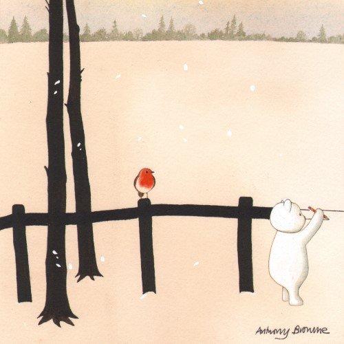 Neuroblastoma UK Anthony Browne Bear's Magic Christmas Weihnachtsgrußkarte, 8 Stück -