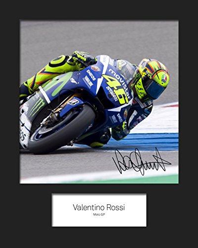 FRAME SMART Valentino Rossi #1   Signierter Fotodruck   10x8 Größe passt 10x8 Zoll Rahmen   Maschinenschnitt   Fotoanzeige   Geschenk Sammlerstück