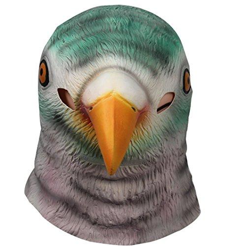 Maske Kostüm Taube (Signstek--Tiermaske aus Gummi/latex für Kostüm Halloween Karneval Fasching)