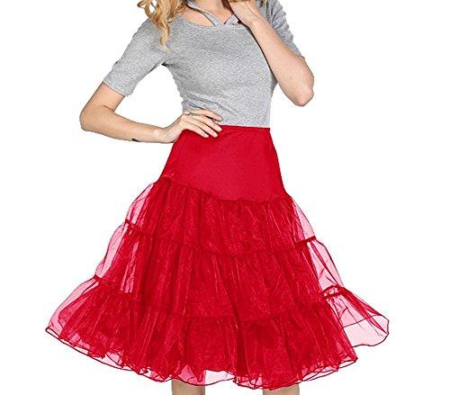 Dressystar-Womens-50s-Vintage-Rockabilly-Petticoat-Skirt-Underskirt-Tutu-14-Colors