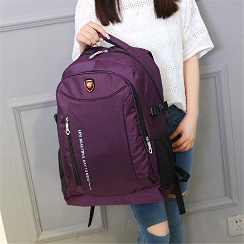 Portable Travel Backpack Oxford Fabric Multifunktion Outdoor Sport leisure Rucksack Klettern Wandern Reiten Studenten Tasche H52 x L36 x T18 cm Purple