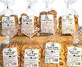 Taralli Pugliesi | Prodotto da forno ideale per snack | La confezione contiene taralli all'olio, al seme di finocchio, integrali, cime di rape, pizza | Prodotto artigianale