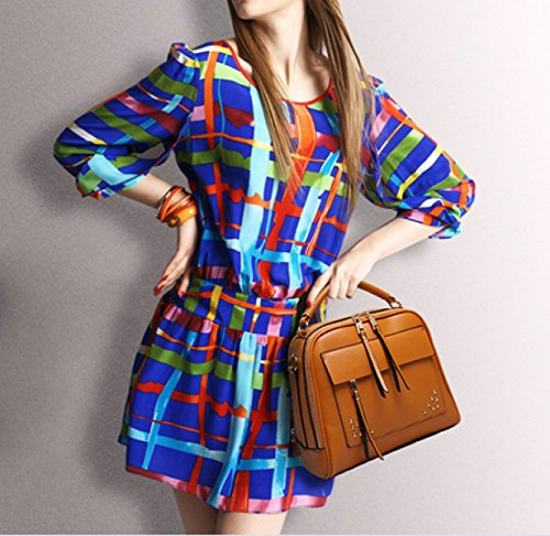 LAIDAYE Frau Mode-Business Postman Portable Schulter Umhängetasche Black