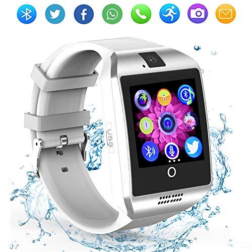 Bluetooth Smart Watch Touchscreen con fotocamera, ZRSJ smartwatches Q18 con slot per schede SIM per Android IOS iPhone Samsung Smartphones Bambini Uomini Donne
