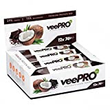 VeePRO - Vegan Protein Bar | Quality Pea Protein Isolate and Protein Concentrate | Gluten-free and Lactose-free Power Bars | Tasty, Rich in Dietary Fiber and Healthy Fats | Ideal Snack | 12 x 74g