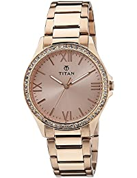 Titan Purple Analog Gold Dial Women's Watch -NK9955WM01