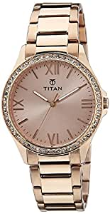 Titan Purple Analog Gold Dial Women's Watch -NK9955WM01
