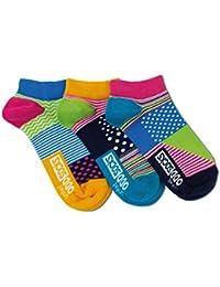 Ladies United Oddsocks Set of 3 Odd Socks Lucy The Dog Hearts Stripes Polka Dots