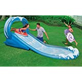VirtualSurround Surf N Slide Inflatable Kids Water Slide Play Center Splash Pool w Sprayer