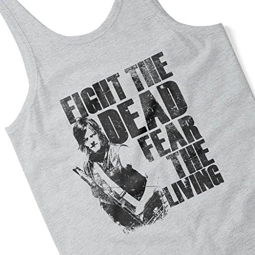 Walking Dead Daryl Fight The Dead Fear The Living Women's Vest Heather Grey