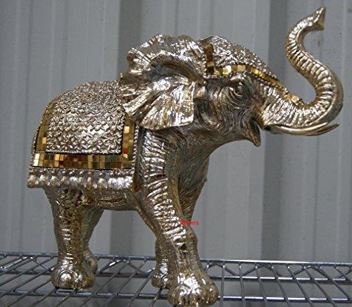 Gold Art Mosaic Style Large Standing Elephant Ornament Model Figure LP40404