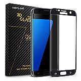 TOPLUS 3d curva Pellicola protettiva per Samsung Galaxy S7 edge e [HD ultra-chiaro film] copertura completa per proteggere il telefono(Nero)