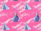 Deko Baumwollstoff Frozen 3 pink, Meterware ab 0,5
