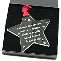 Crafty Gift Company Memorial Poem Bauble Christmas Tree Decoration