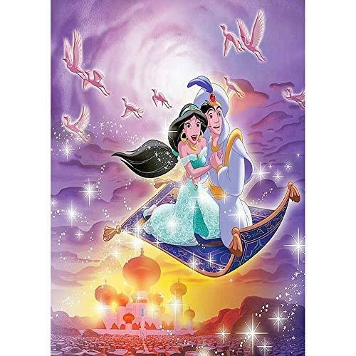 5D DIY Diamant Stickerei Anime Dynastie Prinzessin Prinz Diamant Malerei Kreuzstich Runde Strass Mosaik Dekoration Geschenk Möbel-50x60cm