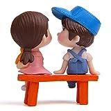 3pz/set mini bambole coppia feci Fairy Garden miniature Doll decorazione della casa/Action Figure figurine DIY micro paesaggio terrario, 1, Taglia libera