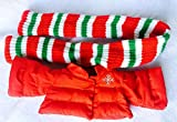 WeihnachtsWinterurlaub- Rote und grüne Jacke und Schal Play-Kleid für Puppen Mickey oder Minnie Mouse oder Teddybären