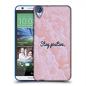 Snoogg Stay Positive Designer Protective Back Case Cover For HTC Desire 820