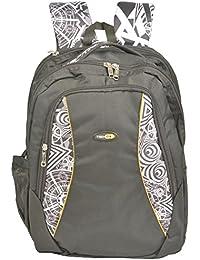 Trendz Polyester 15 Liters Black And White School Bag (711 Black)