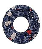 Majea NEUE Kollektion Damen Loop Schal viele Farben Muster Schlauchschal Halstuch in aktuellen Trendfarben (navy 19)
