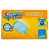 Swiffer Starter Kit Duster Scopa con 1 Manico + 4 Piumini Profumati Ricarica di Ricambio, per Catturare e Intrappolare la Polvere