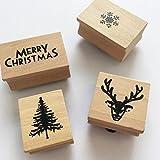 Decorare le tue carte e tag questo Natale con speciali timbri in legno carino. Il pacchetto di 4include motivi natalizi ideali per l' utilizzo su regali e nelle carte. Perfette da usare insieme o singolarmente su etichette per regali e mesti...