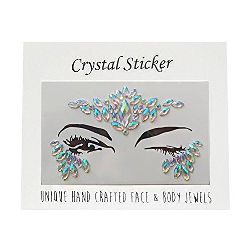 Tränen Gems Rainbow Kristall Rocks Bindi Body verkleiden Kostüm temporäre Steine Aufkleber Party Hochzeiten Rave Festivals ()