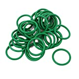DealMux 30Pcs 15 x 1,5 millimetri guarnizione di gomma O-ring di tenuta Anello termoresistente Verde