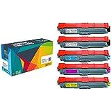 Do it Wiser ® 5 Cartouches de Toner TN-241 TN-245 Compatibles pour Brother MFC 9330 9340 CDW | MFC 9130 9140 CDN | DCP 9015 9020 CDW | HL 3140 CW | HL 3150 CDN | HL 3170 CDW
