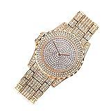 ENET - Reloj de Pulsera para Mujer, diseño de Diamantes de imitación, Color Oro Rosa