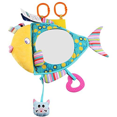 Blaward Rücksitzspiegel für Babys, Baby Autositz Spiegel, Rückansicht Baby Spiegel, Plüschtier, Baby-In-Sight Netter Fisch Spiegel (Kuh-auto-sitz)