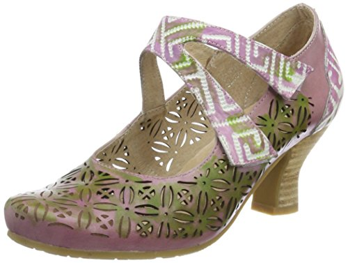 Laura Vita Damen Candice 019 Mary Jane Halbschuhe, Violett (Violine), 41 - Mary Jane Purple Schuhe