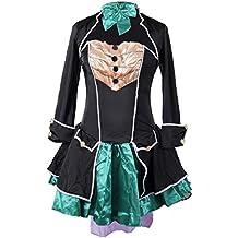 Traje de fantasía de sombrerero loco Emma's Wardrobe - incluye el vestido sin tirantes, la chaqueta, el sombrero y el corbatín - Hermoso traje de Alicia en el país de las maravillas para Halloween y fiestas del té - alta calidad - Tamaños 36