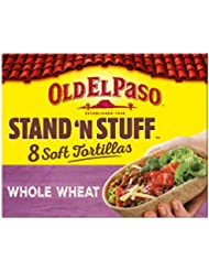 Old El Paso Stand 'N' Stuff Soft Whole Wheat Tortillas x8 193g