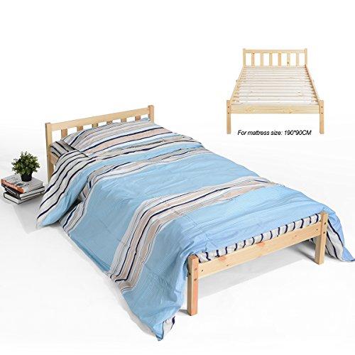 Innovareds Natürliche Starke Kiefer Solide Holz Einzelbett Rahmen Original Farbe (Kinder-einzelbett-rahmen Für Mädchen)
