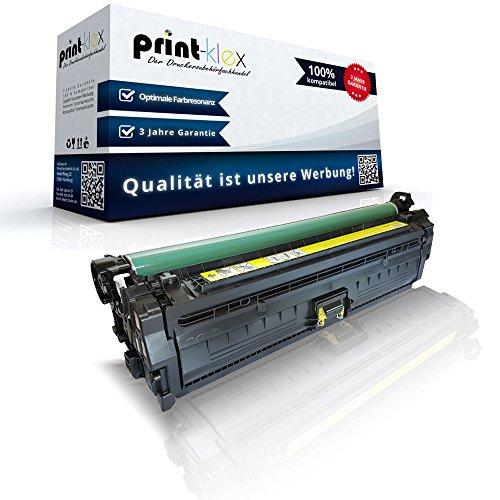 Print-Klex Kompatible Tonerkartusche für HP Color LaserJet Enterprise CP5520 Series Enterprise CP5525 DN Enterprise CP5525 N Enterprise CP5525 XH CE272 CE272A Yellow Gelb