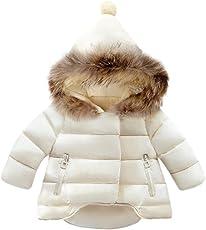 Overdose Baby Jungen Mädchen Baumwolle Daunenjacke Steppjacke daunenmantel Winterjacke Winter Mantel Daunenjacke Dicke Warm Reißverschluss Kapuzenjacke