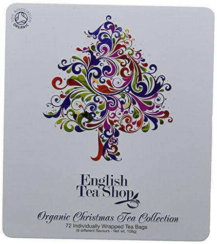 English Tea Shop Organic Holiday Tree Tin (Pack of 72 Tea Bags)