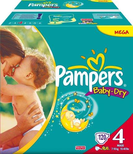 Pampers Baby Dry Gr.4 Maxi 7-18kg Megapack 120 Stk.