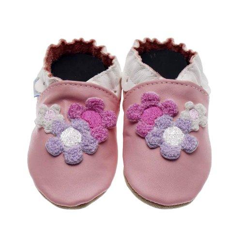 Jack & Lly , Chaussures souple pour bébé (garçon) Rose - Rosa (Pink)