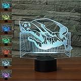 Best Neón Lámparas de mesa - Fútbol Regalo de cumpleaños 3D Illusion Night Light Review