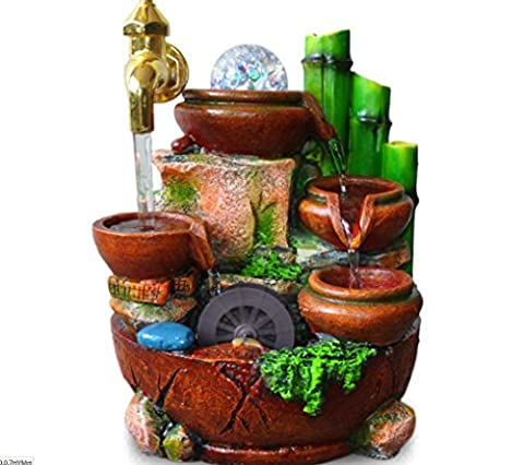 U-Indoor Fountains Craft gift ideas flowing rock bamboo fountain resin crafts
