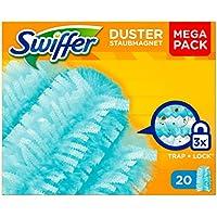 Swiffer Duster Ricariche per Piumino Catturapolvere, Ricambio Maxi Formato, 20 Pezzi