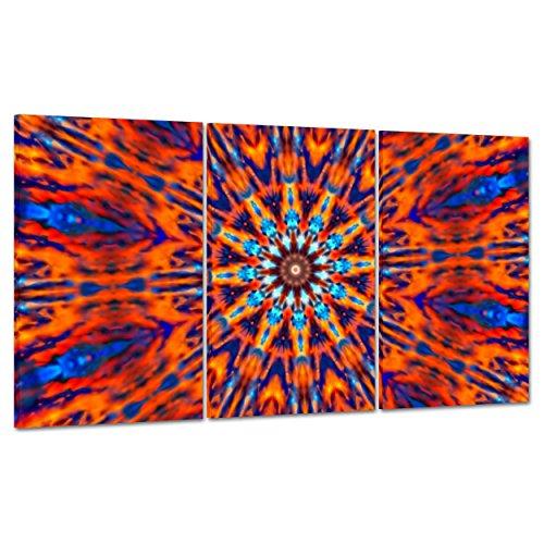 Cuadro sobre lienzo Canvas–ConKrea–Listo para colgar–Arte psicodélica–USA Amerca años 60–Mandala