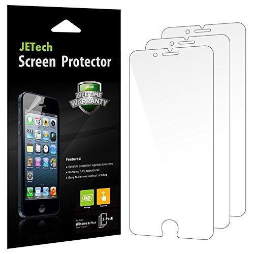 JETech Schutzfolie für iPhone 6s Plus iPhone 6 Plus, HD Klar Displayschutzfolie, 3 Stück