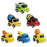 Symiu Macchinine Giocattolo Set Veicoli Mini Camion Escavatore Bulldozer Dumper Ruspa Giocattolo 6 Pezzi per Bambini 3 4 5