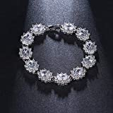 Armbänder Fashion Red Zirkonia und Platin Oval Crystal Lady Charm Armband Armband Schmuck Zubehör Armband
