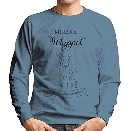 Great British Pub Dogs Mines A Whippet Men's Sweatshirt