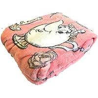 Manta cobertora para la cama de La Bella y la Bestia., polar, Rosa, 125 CM X 150 CM