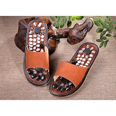 zhENfu donna pantofole & amp; flip-flops Comfort PU molla Casual Blue Fucsia Orange Flat Orange